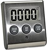 Elegant Digital Kitchen Timer, Stainless Steel Model eT-78, Displays 0-99 Min. or 0-99 Hr, SUPER Strong Magnetic Back, Volume Switch For Soft/Loud Alarm Tone, Auto Shut Off, Auto Memory