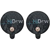HiDow Tens Unit Replacement Stim Pads Large Round Electrodes | Premium Quality Large Electrode Pads Competable with Hi-Dow |
