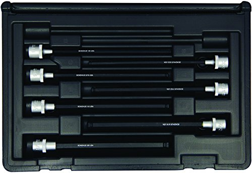Bondhus 30845 Socket Ball End Bit Tool Set with Sockets, 6