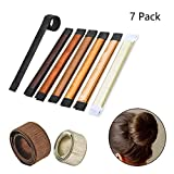 Hair Bun Maker, Beyond Hair Bun Shapers Magic Bun Maker with 7 Colors, French Twist Hairstyle Accessory, DIY Hair Styling Tool for Women Girls -7Pcs