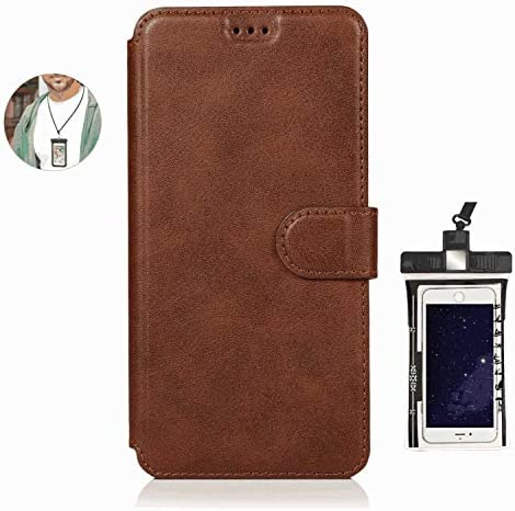 耐摩擦 手帳型 ケース Samsung Galaxy S10 E ケース サムスン ギャラクシー レザー 本革 アイフォン 財布型 カード収納 軽量 保護ケース, 無料付防水ポーチ水泳など適用