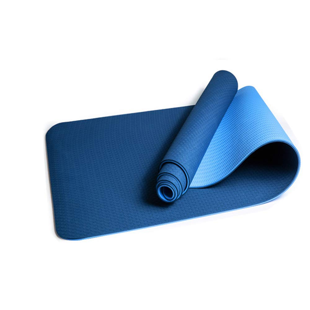 QJKai TPE reißfeste Zweifarbige Yogamatte Übungsmatte Umweltschutz Rutschfeste Fitness-Outdoormatte