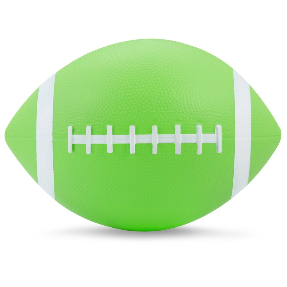 (Green) - Inflatable Little Football, Stylife All Weather Sports Football for Kids and Junior Athletes 22cm Long (Pump Not Included )   B01HAUF61K