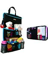 Backseat Car Organizer - Kids Toy Storage - Comes with Visor Organizer