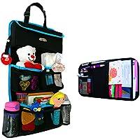 Organizador de juguetes de niños para asiento trasero del automóvil,viene con organizador de visor.