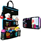 Backseat Car Organizer - Kids Toy Storage - Comes with Visor Organizer