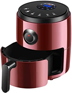 TQMB-A Air Fryer Oilless 3.2L, Chip Fryer Mini Oven with Multiple Cooking Presets, Baking and Grilling, 30 Minute Timer for Weight Watchers, Healthy Low Fat Cooking,Red