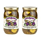 Jake & Amos Bread & Butter Pickles - (2) 16 Ounce Jars