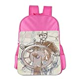Sea Captain The Leader Seaman Sketch Child School Backpack Funny Student Bookbag For Teens