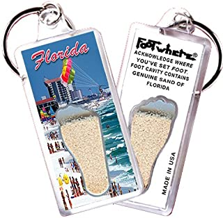 "product image for Florida ""FootWhere"" Souvenir Keychain. Made in USA (FL106 - @DaBeach)"