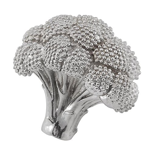 Vicenza Designs K1077 Fiori Broccoli Knob, Large, Polished Nickel