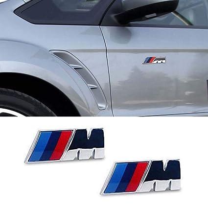 Amazon Com M Tri Color Fender Side Emblem 2 Pcs Car Sticker M