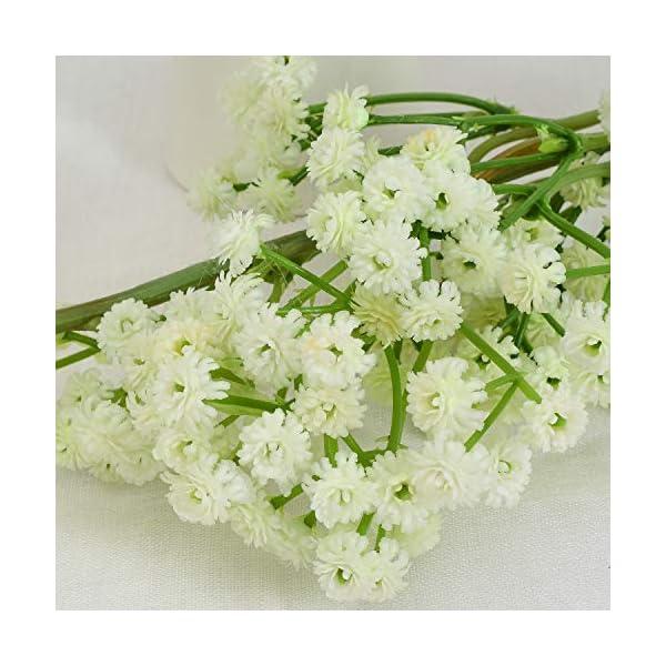 6Ft Gypsophila Baby's Breath Flower Garland Artificial Garland for Wedding Home Outdoor Garden Decoration Door Wreath Accessories