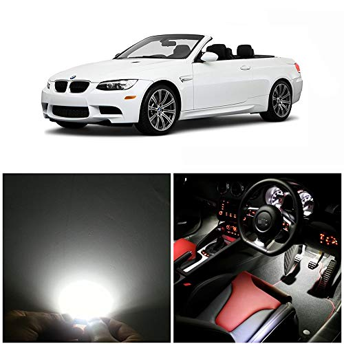 WLJH 17pieces 6000k Pure White Super Bright 2835 Chip Bulb Error Free Canbus Car Led Package Kit For BMW 3 Series - E93 M3 Convertible 335i M3 2006-2011