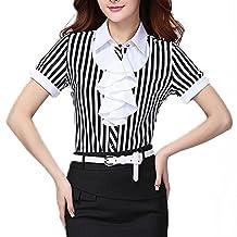 Echoine Women Ol Business Attire Office Short sleeve Shirt