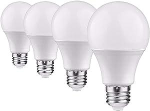 JOYLIT 3W LED Bulb Light Warm White 3000K,E26 E27 200lm LED Bulbs Lamp No Flicker, Energy Saving 3W Globe Bulb Lights Replacement 20W Incandescent Lamp (4PCS)