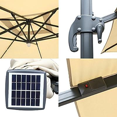 Mefo garden Cantilever Patio Umbrella 360-Degree Rotation with Crossing Base