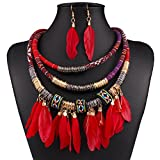 XY Fancy Feather Pendant Multi Layers Tr...