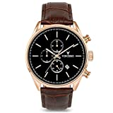 Vincero Luxury Men's Chrono S Wrist Watch Rose Gold Brown Leather Deal (Small Image)