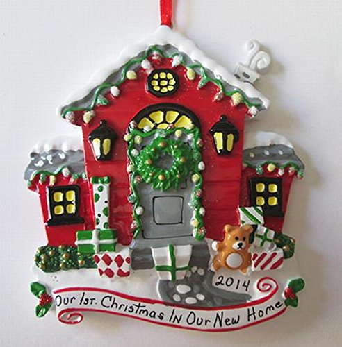 fae600eadfd87 Our First Christmas in New Home Decorated Ornament  Amazon.co.uk  Kitchen    Home
