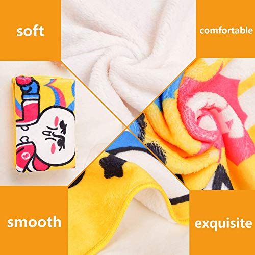 Swaddle Blanket,Kids Birthday,Russel Dog Domestic Puppy Pet with Hat at a Party Celebration with Yummy Cake,Multicolor,Lightweight Extra Soft Skin Fabric,Not Allergic 60''x70'' by PearlRolan (Image #2)