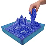 Sensory Sand Ultimate Set, Blue Sand - Over 3 Lbs of No Mess Magic Sand for Kids Toddlers (Blue Sand Kit)