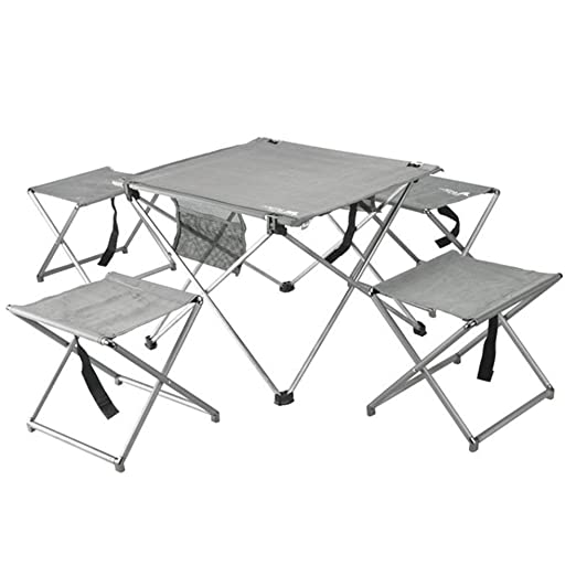 LPYMX Mesa Plegable para Camping y Silla, Juego de 4 sillas y Mesa ...