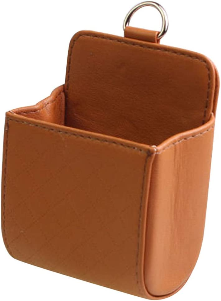 ventilaci/ón Cubo de almacenamiento de piel sint/ética de color s/ólido para coche apto para coches WANGSUN m/óvil caja de almacenamiento multifuncional para objetos peque/ños