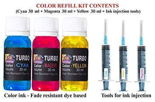 Turbo Plastic HP 680 Colour Ink Cartridge Refill for deskjet 1115 1118 2135 2138 3635 3636 3638 3775 3776 3777 3778 3830 3835 3838 4535 4536 4538 4675 4678