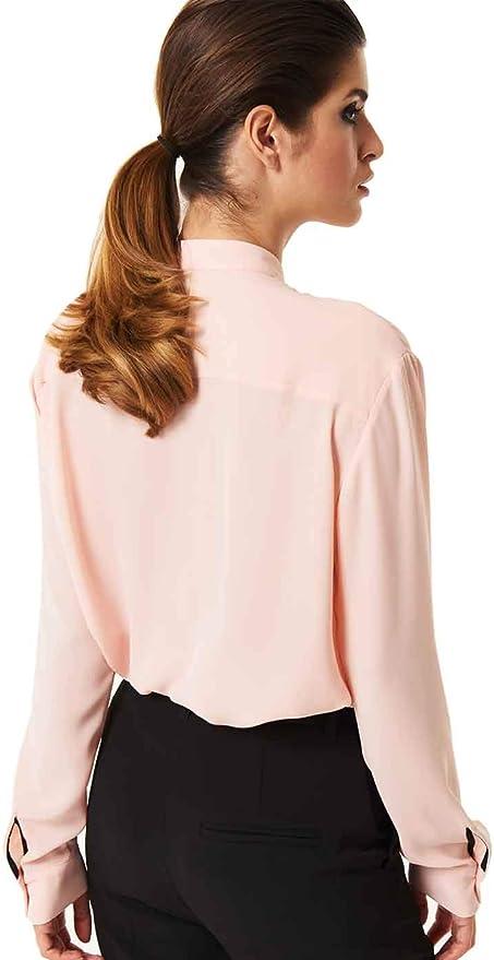 Denny Rose Camisa Rosa de Mujer Lazo Negro Ribeteado. O/I 20 ...