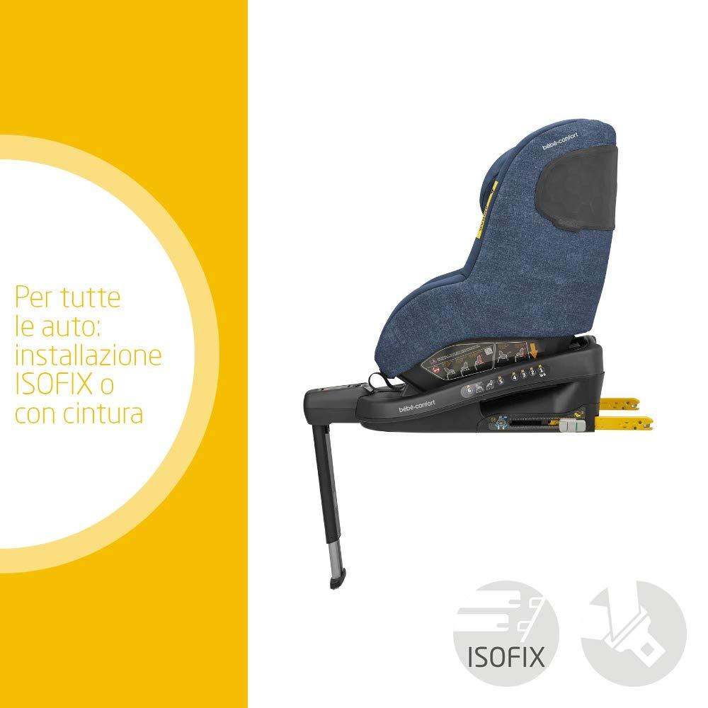 B/éb/é Confort Beryl Seggiolino Auto isofix reclinabile 0-25 per Bambini Dalla Nascita fino a 7 Anni Nomad Black Reclinabile 5 posizioni con Riduttore per Neonati