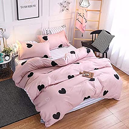 Pink Heart Bed Sheets