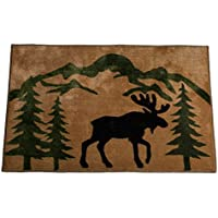 HiEnd Accents Moose Lodge Kitchen Bath Rug, 24 x 36