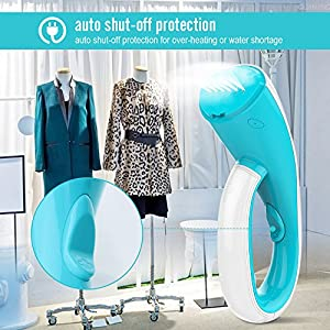 OXA Smart 1000W Ultra-Compact Handheld Garment Steamer, 20s Fast Steaming with 2 Brushes, Portable Fabric Clothes Steamer – Portable, Safe, Lightweight and Perfect for Travel & Home