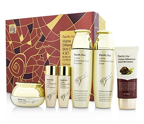 FARMSTAY VISIBLE DIFFERENCE SNAIL SKIN CARE SET - Korean cosmetics