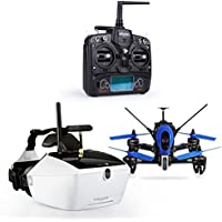 Walkera F210 Deluxe Racing Drone Add 3D Edition with 5.8G Goggle-4 3D Glasses/Devo 7/Transmitter 700TVL Night Vision Camera/OSD RTF/Battery/Brushless Motor RC Helicopter Quadcopter