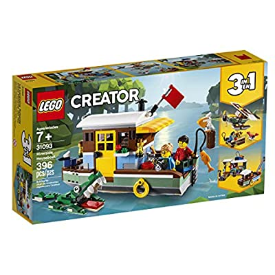 LEGO Creator 3in1 Riverside Houseboat 31093 Building Kit (396 Pieces): Toys & Games