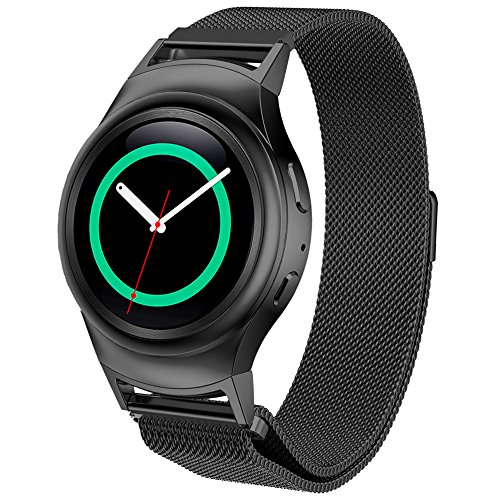 dbmood-mesh-watch-band-for-samsung-gear-s2-rm-720-smart-watchstainless-steel4-color826-inches-black