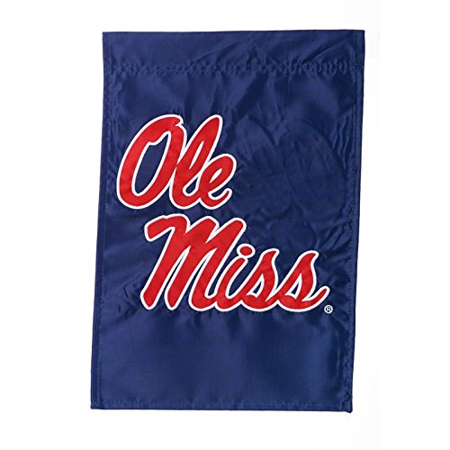 Ashley Gifts Customizable Embroidered Applique Garden Flag, Double Sided, University of Mississippi, Ole Miss]()