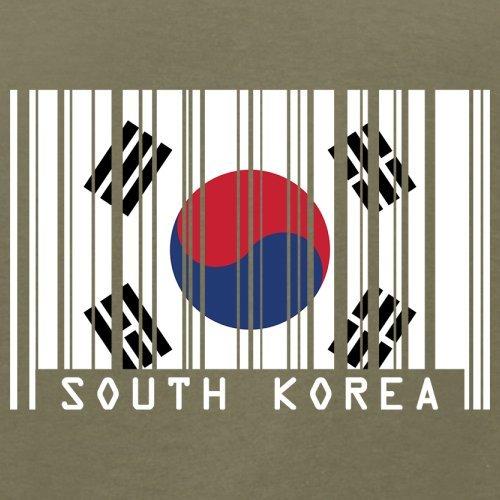 South Korea / Südkorea Barcode Flagge - Herren T-Shirt - Khaki - M