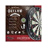 Shot! Darts Darts Outlaw Steel Tip Dartboard-Bladed Bristle Board-Official Competition Size-Self Healing Sisal-Reduced Bounce Outs-Staple Free Bullseye