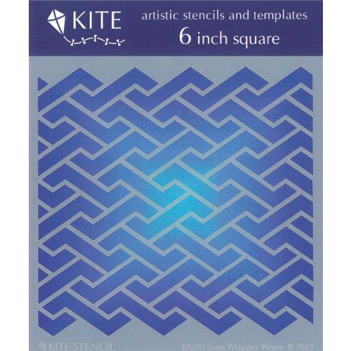 Judikins Square Kite Stencil, 6-Inch, Gum Wrapper Weave