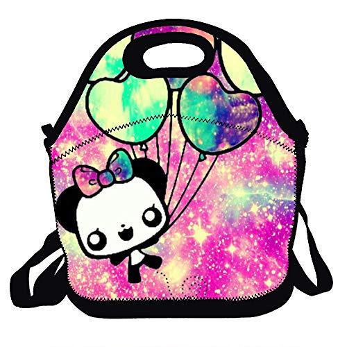 Feddiy Personalized Lunch Box Kawaii balloon galaxy Handbag with Adjustable Shoulder Strap for Adults/Men/Women/Kids (Kawaii Balloons)