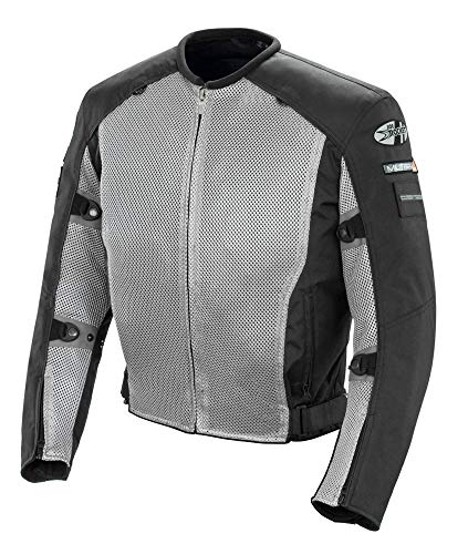 (Joe Rocket Recon Mesh Military Spec Men's Textile Street Motorcycle Jacket - Grey/Black /)