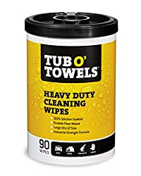 Tub O Towels Heavy-Duty Multi-Surface Fresh Scent Cleaning Wipes with Lanolin, Vitamin E, and Aloe Vera