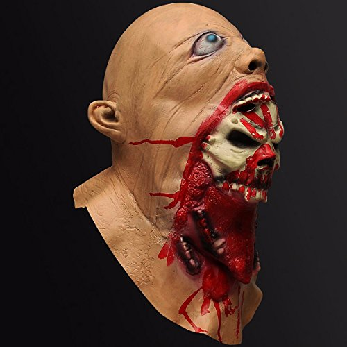 SICA Halloween Latex Bloody Mask Zombie Face Melting Costume Party Prop