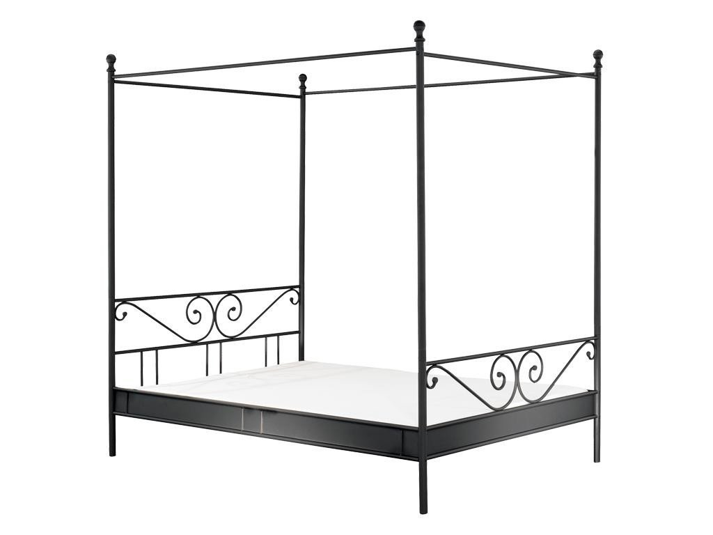 metallbett 140 200 schwarz. Black Bedroom Furniture Sets. Home Design Ideas