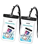 #9: Anker Universal Waterproof Case, IPX8 Waterproof Phone Pouch Dry Bag for iPhone X / 8 / 8 Plus, Samsung Galaxy S8 / S7, Samsung Note Series, Google Pixel 2, up to 6 Inches—2 Pack