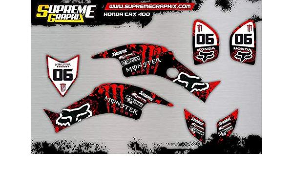 Kit Adhesivos Honda TRX 400 ADESIVY Stickers: Amazon.es ...
