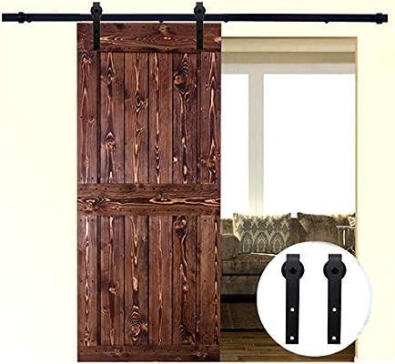LWZH Retro - Kit de herramientas para puerta corredera de una sola puerta, armario interior, armario de puerta, TV (ganchos en forma de J negro): Amazon.es: Bricolaje y herramientas